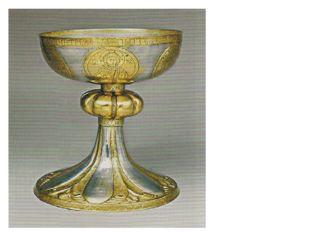 Чаша-потир. Древняя Русь, XII век. Серебро, чеканка, резьба, золочение.
