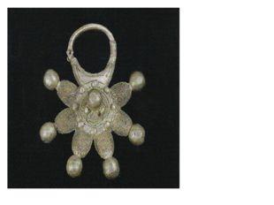 Звёздчатый колт из Тульского клада. Древняя Русь, XII век. Серебро, литьё, с