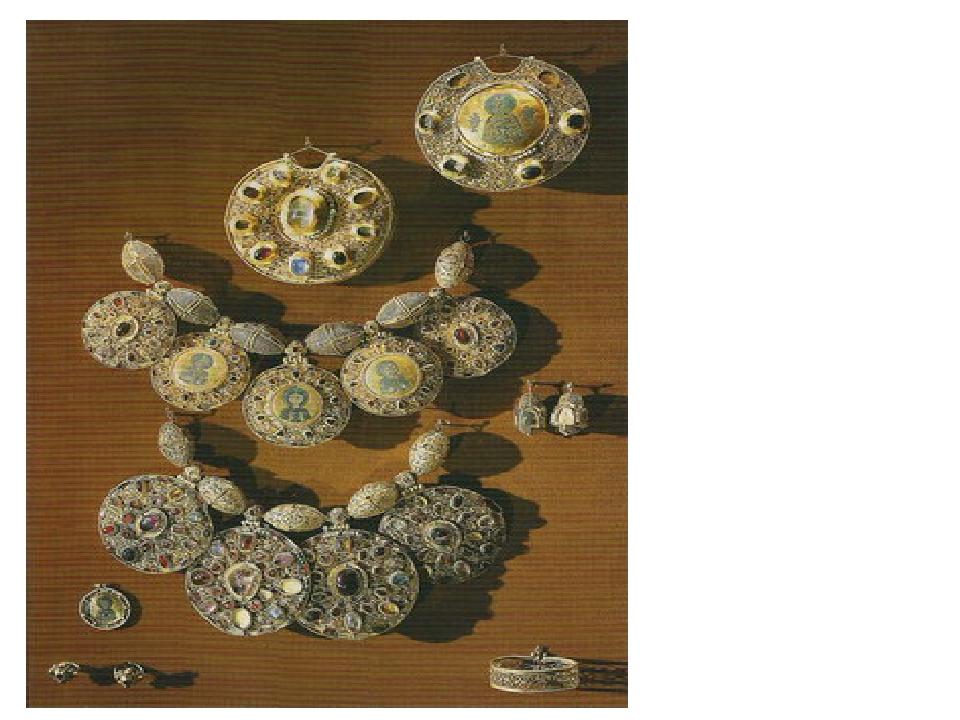 Бармы из Рязанского клада. Древняя Русь, Рязань, XII век. Золото, драгоценны...
