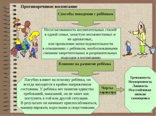 Противоречивое воспитание Влияние на развитие ребёнка Черты характера Тревож