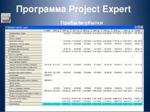 Программа Project Expert Прибыли-убытки