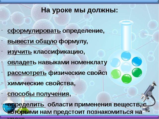 сформулировать определение, вывести общую формулу, изучить классификацию, овл...