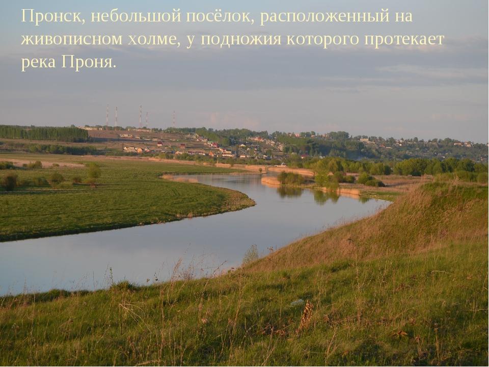 Пронск, небольшой посёлок, расположенный на живописном холме, у подножия кот...