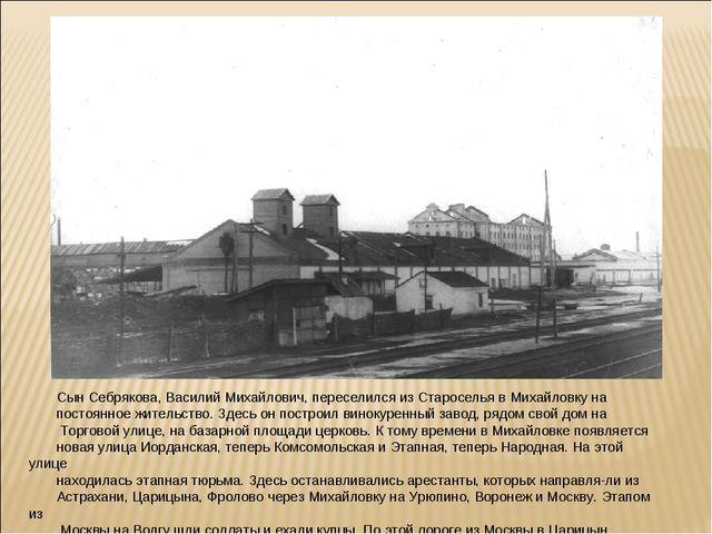 Сын Себрякова, Василий Михайлович, переселился из Староселья в Михайловку на...
