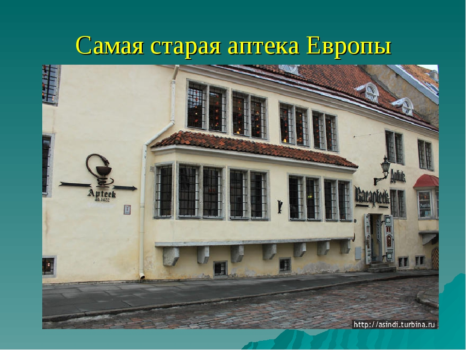 Самая старая аптека Европы