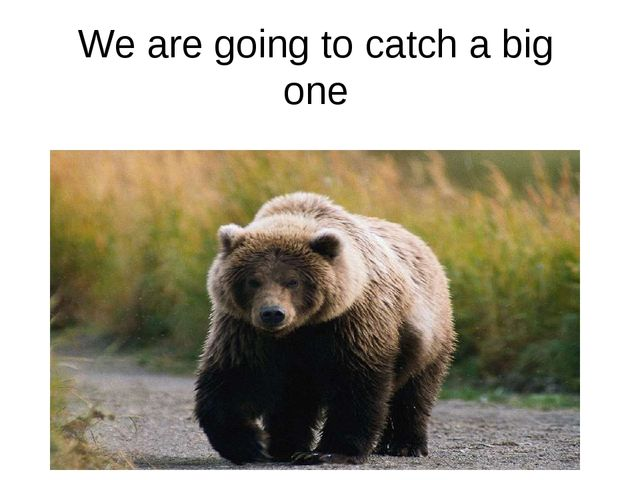We are going to catch a big one