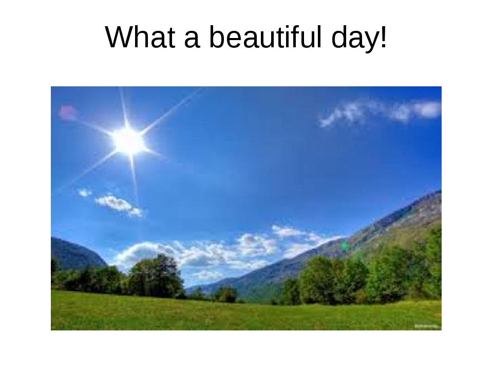 What a beautiful day!