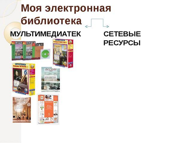 Моя электронная библиотека МУЛЬТИМЕДИАТЕКА СЕТЕВЫЕ РЕСУРСЫ