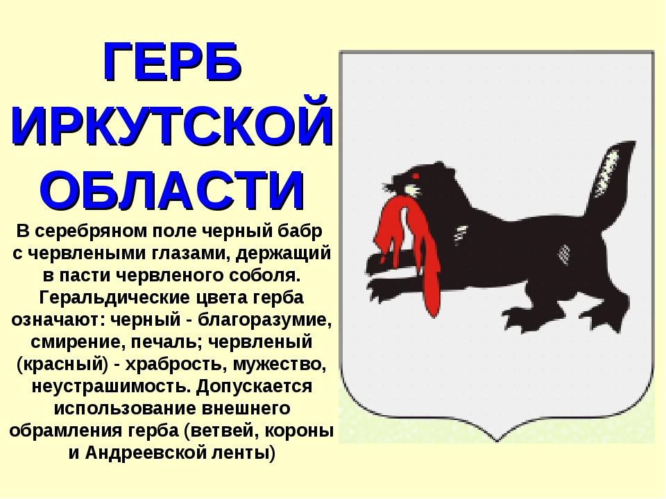 центре площади картинки иркутск герб том