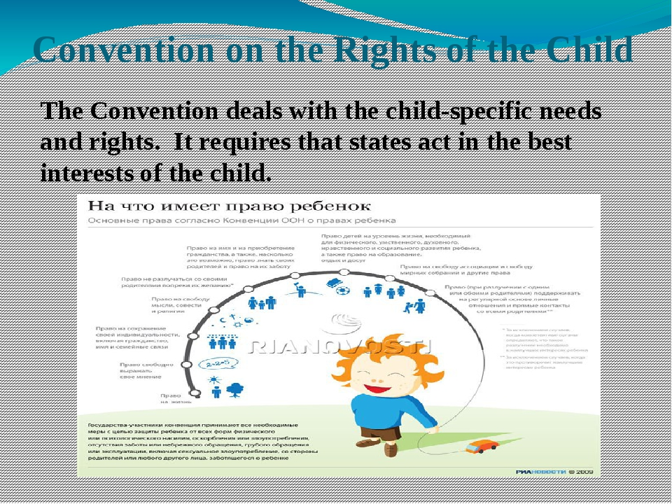 Convention on the Rights of the Child The Convention deals with the child-spe...