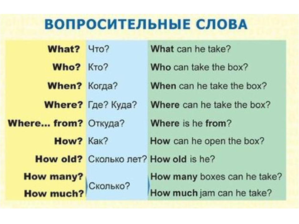 Как сделать вопросительное предложения по английский