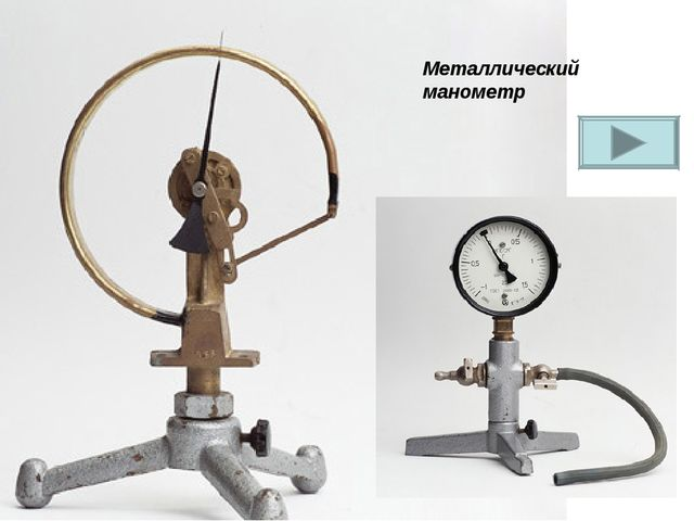Металлический манометр