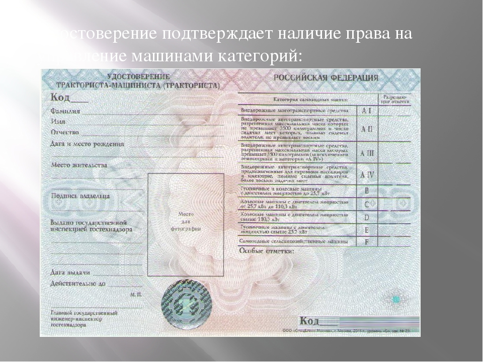 Водительские права на спецтехнику авито спецтехника красноярский край