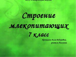 МОУ «Назаровская школа» Строение млекопитающих 7 класс Прошкина Алла Федоровн
