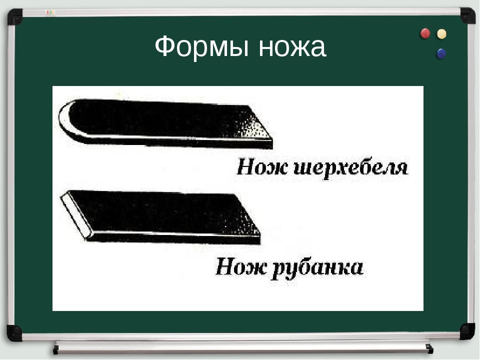 Формы ножа