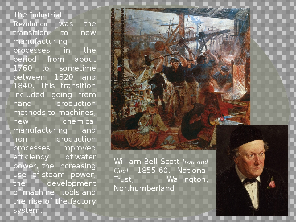 The Industrial Revolution was the transition to new manufacturing processes i...