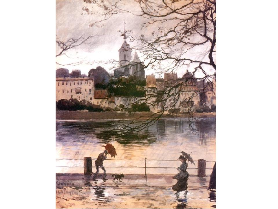 Совершенно новое значение образ города приобрел в творчестве художников, созд...