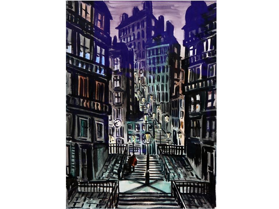А в творчестве бельгийского художника Ф. Мазереля громады города-монстра пода...