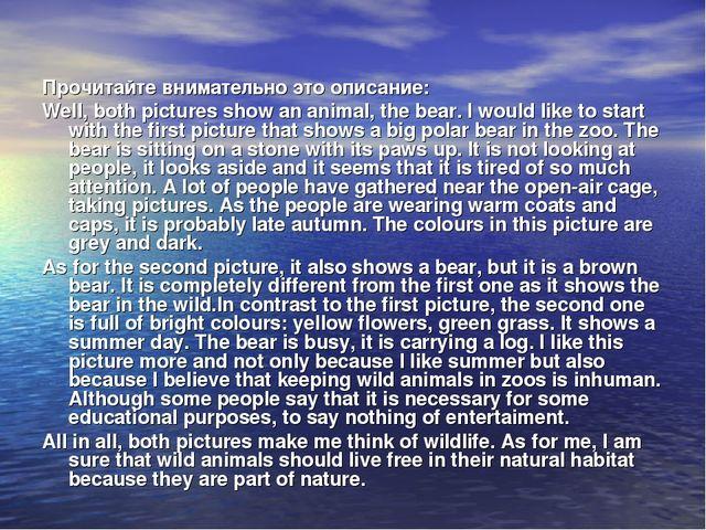 Прочитайте внимательно это описание: Well, both pictures showan animal, the...