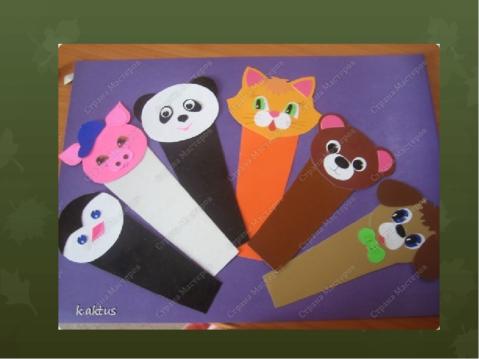 Закладка поделка из бумаги