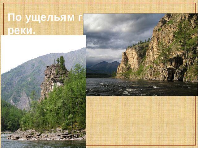 По ущельям гор текут горные реки.