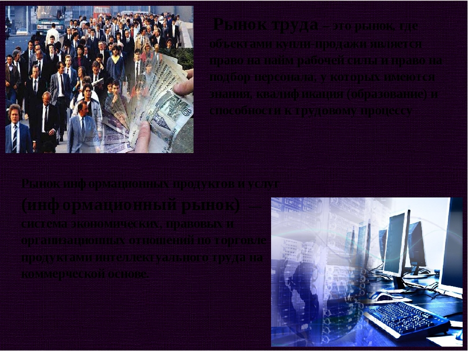 Рынок труда – это рынок, где объектами купли-продажи является право на найм...