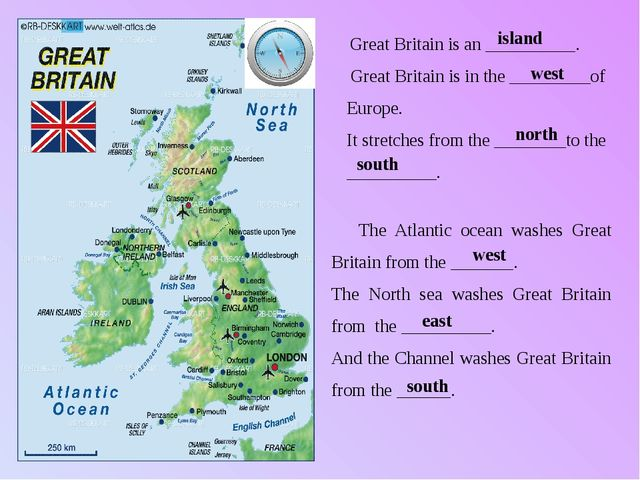 Great Britain is an __________. Great Britain is in the _________of Europe....