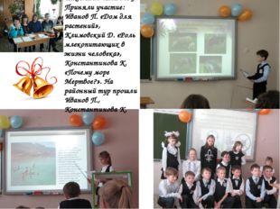 Школьный этап НОУ Приняли участие: Иванов П. «Дом для растений», Климовский Д