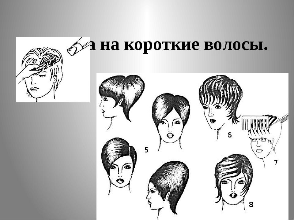 Укладка на короткие волосы.