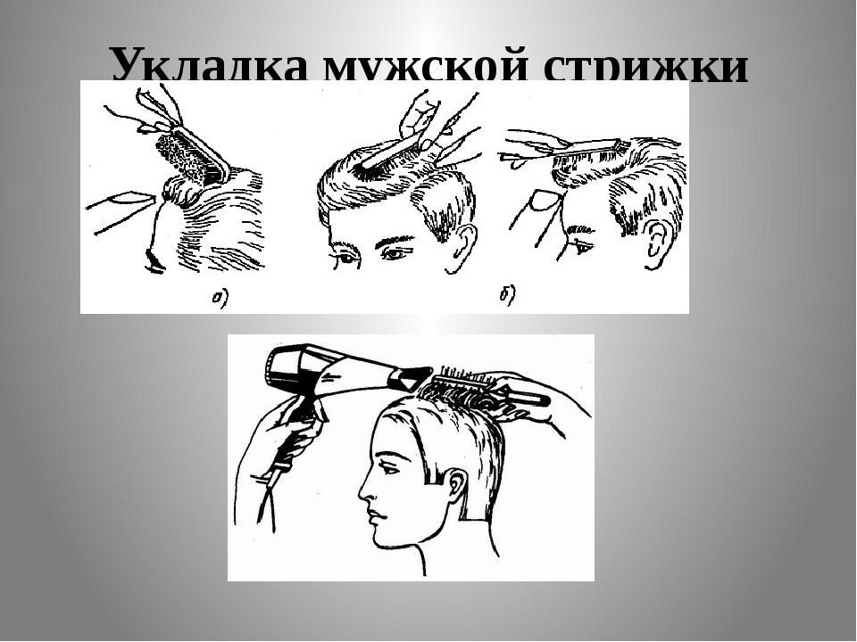 Укладка мужской стрижки