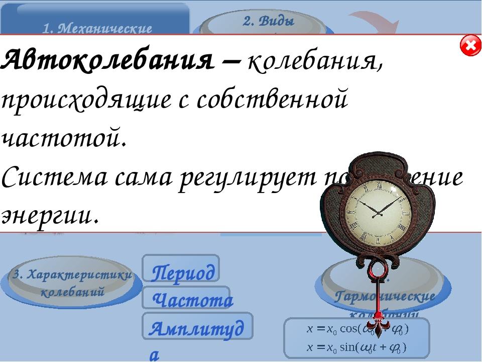 Основные элементы Период колебаний-…(стр. 160 учебника). Обозначается период...