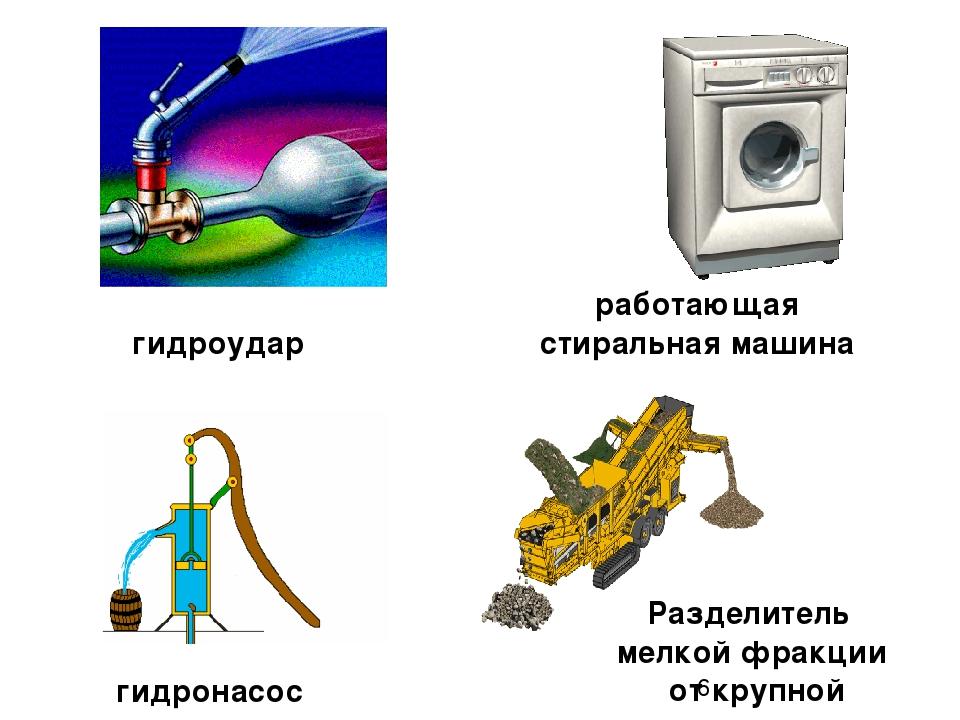 гидроудар работающая стиральная машина Разделитель мелкой фракции от крупной...