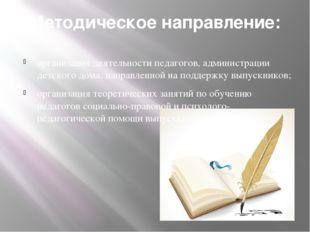 Методическое направление: организация деятельности педагогов, администрации д