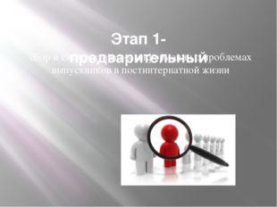 Этап 1- предварительный сбор и систематизация информации о проблемах выпускн