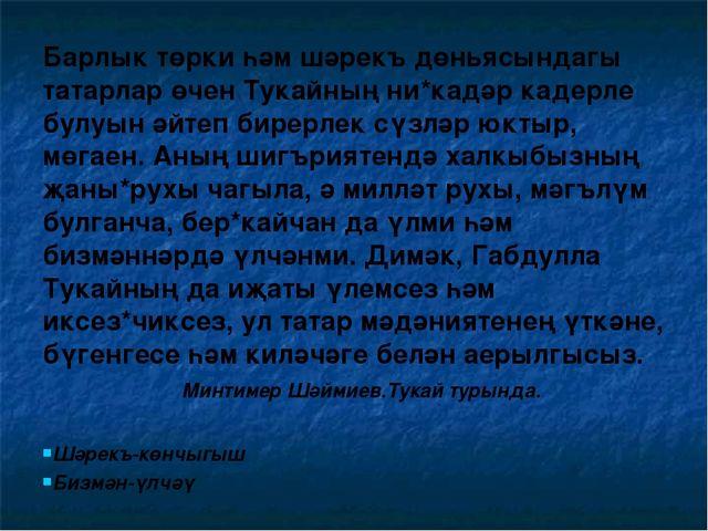 Барлык төрки һәм шәрекъ дөньясындагы татарлар өчен Тукайның ни*кадәр кадерле...