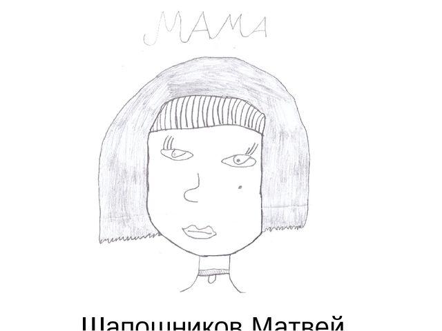 Шапошников Матвей