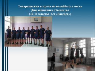 Товарищеская встреча по волейболу в честь Дня защитника Отечества (10-11 клас
