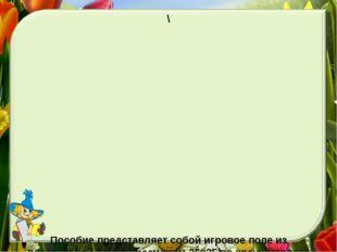 \ Пособие представляет собой игровое поле из пластиковой панели размером 25x2