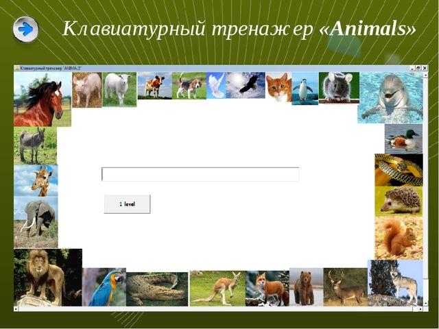 Клавиатурный тренажер «Animals»
