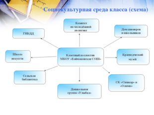 Социокультурная среда класса (схема) Классный коллектив МБОУ «Баймаковская СО
