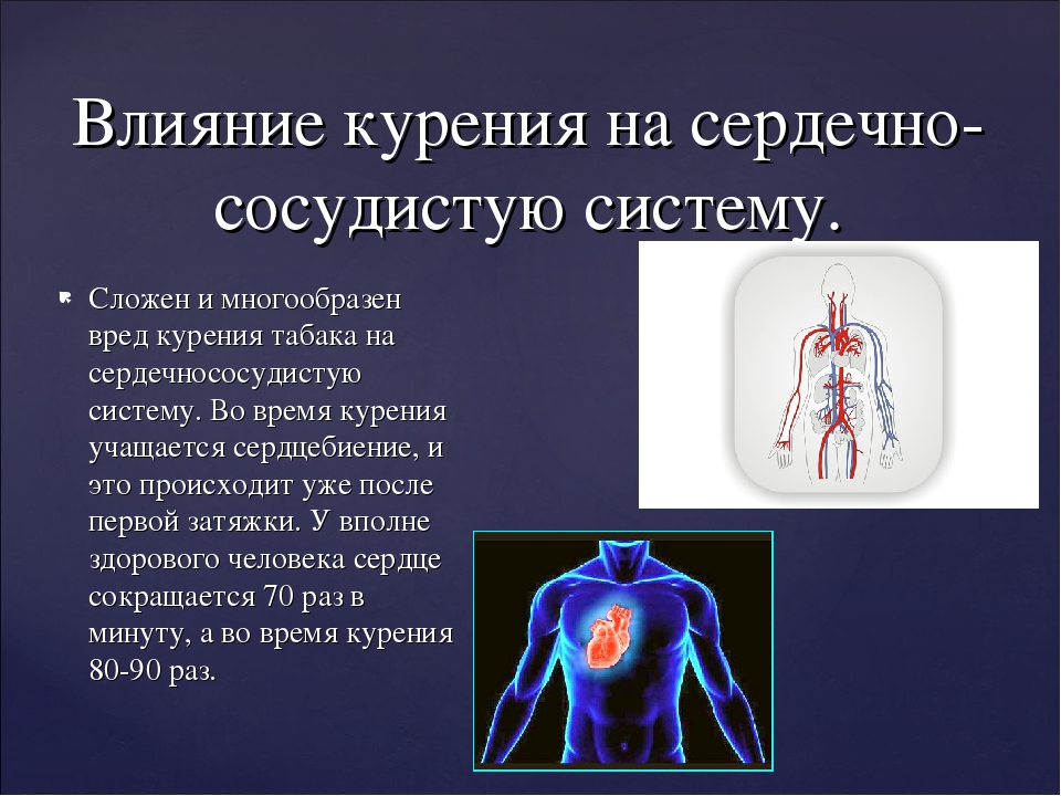 Сложен и многообразен вред курения табака на сердечнососудистую систему. Во в...
