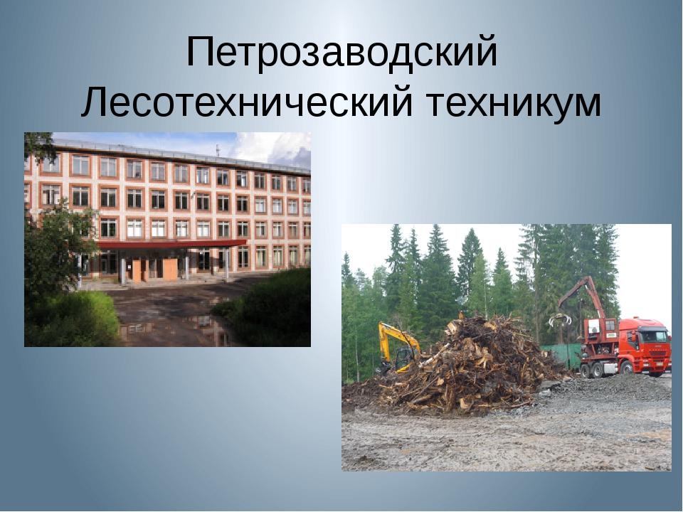 Петрозаводский Лесотехнический техникум