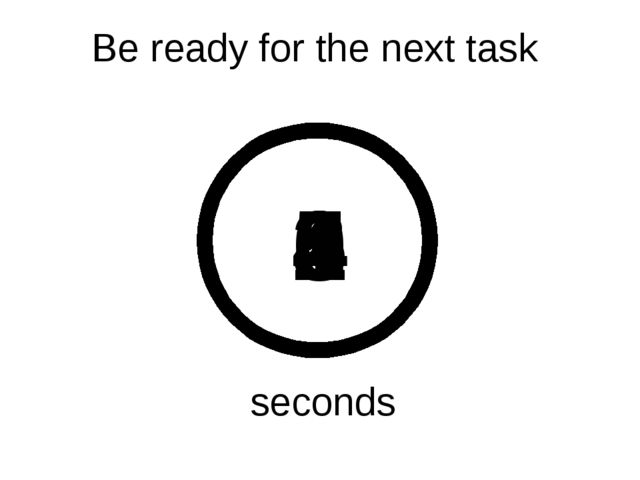 Be ready for the next task 5 4 3 2 1 0 seconds