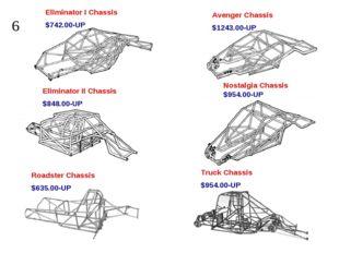 Eliminator I Chassis $742.00-UP Avenger Chassis $1243.00-UP Eliminator II Cha