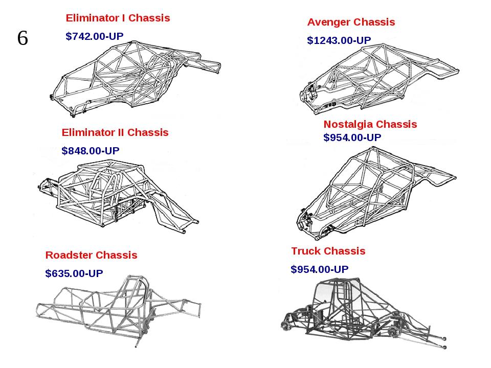 Eliminator I Chassis $742.00-UP Avenger Chassis $1243.00-UP Eliminator II Cha...