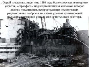 . Одной из главных задач лета 1986 года было сооружение мощного укрытия, «сар