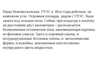 Наша Новомосковская ГРЭС в 80-е годы работала на каменном угле. Огромная площ