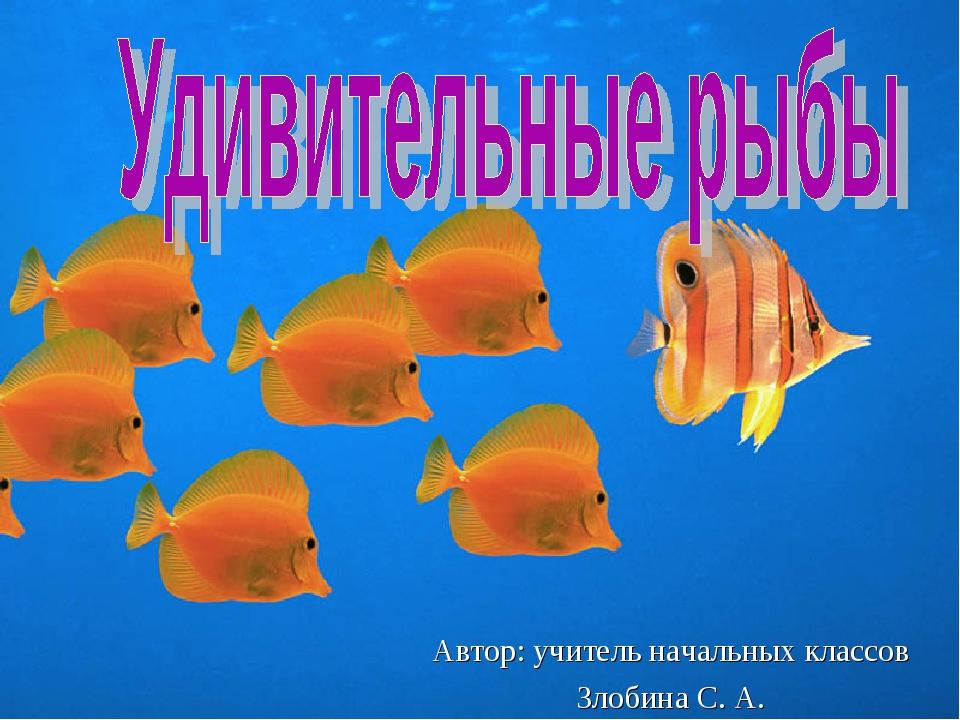 Автор: учитель начальных классов Злобина С. А.