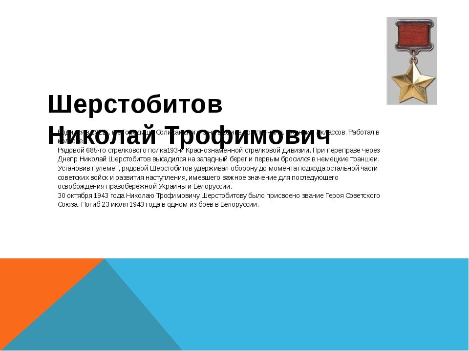 Шерстобитов Николай Трофимович