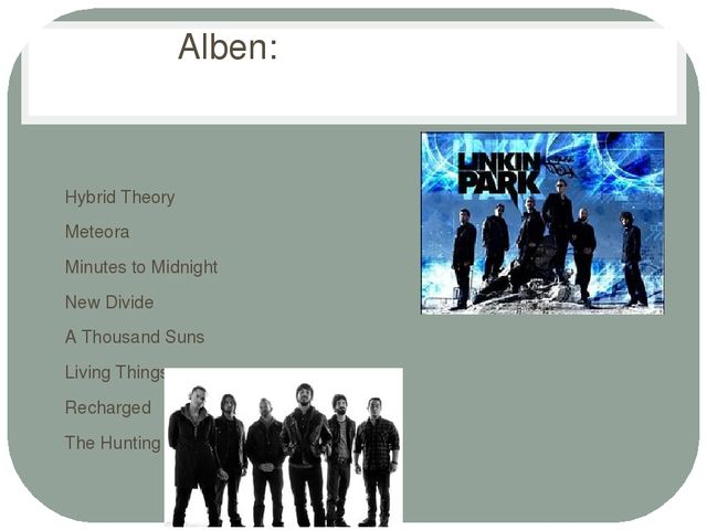 Alben: Hybrid Theory Meteora Minutes to Midnight New Divide A Thousand Suns L...